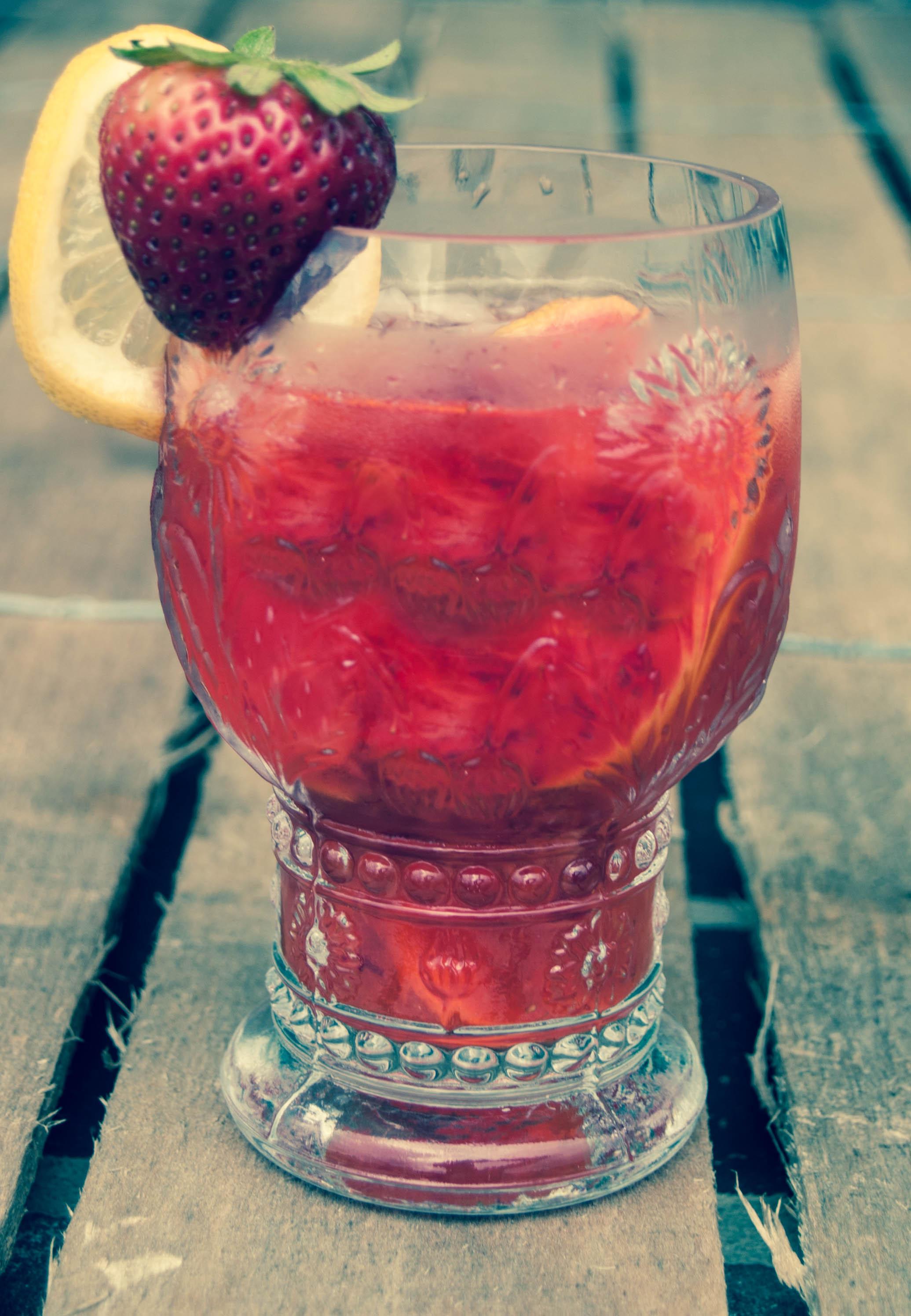 Glass Of Strawberry Lemonade