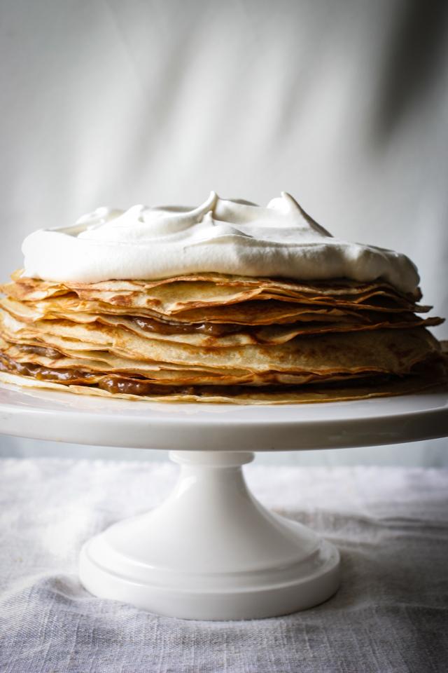 Bananas Foster Crepe Cake