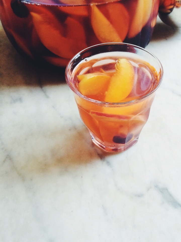 Summer Stone Fruit Sangria | for the love of the south