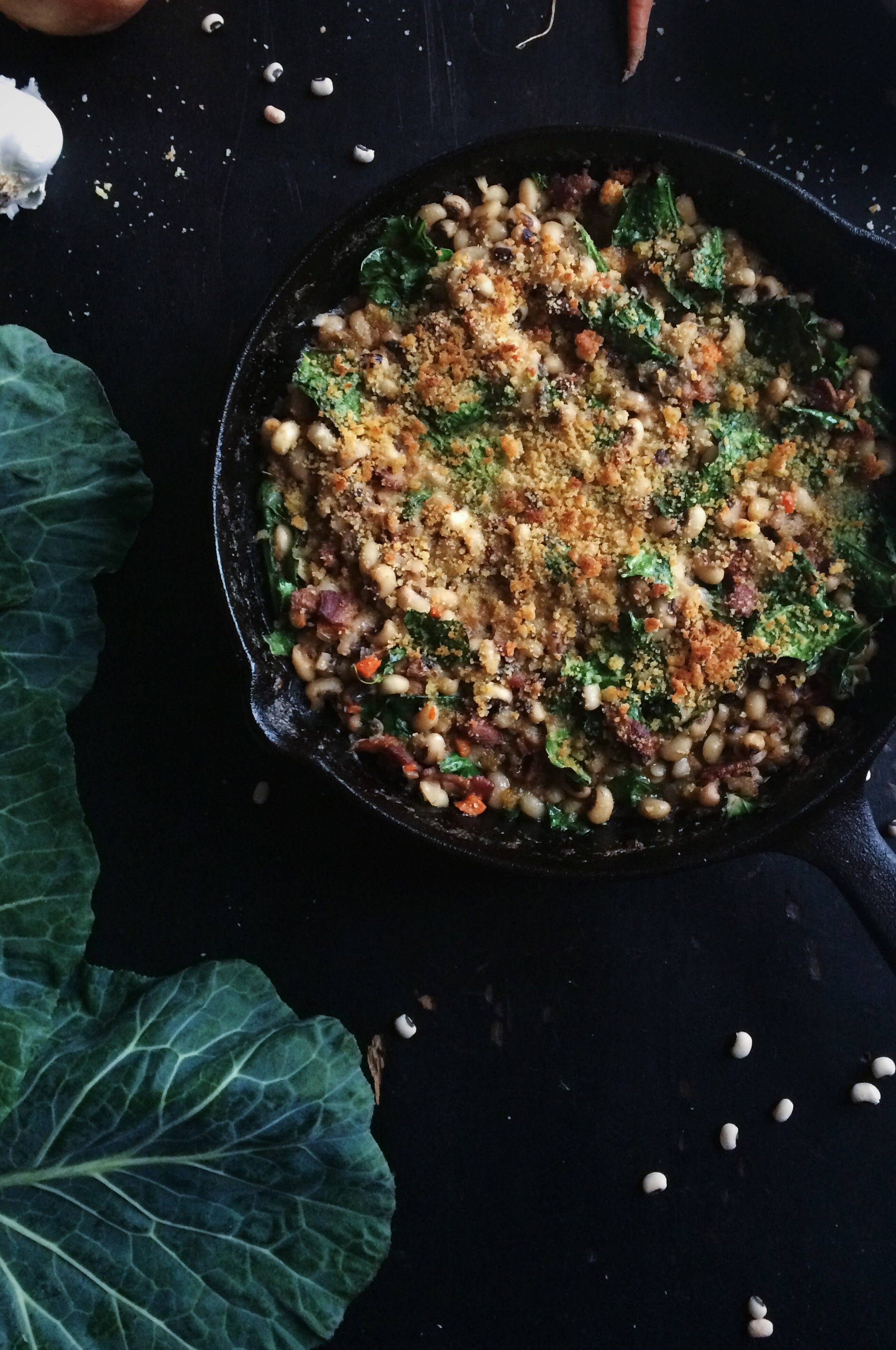 Black eyed peas collard greens black eyed pea cassoulet for the love of the south forumfinder Choice Image