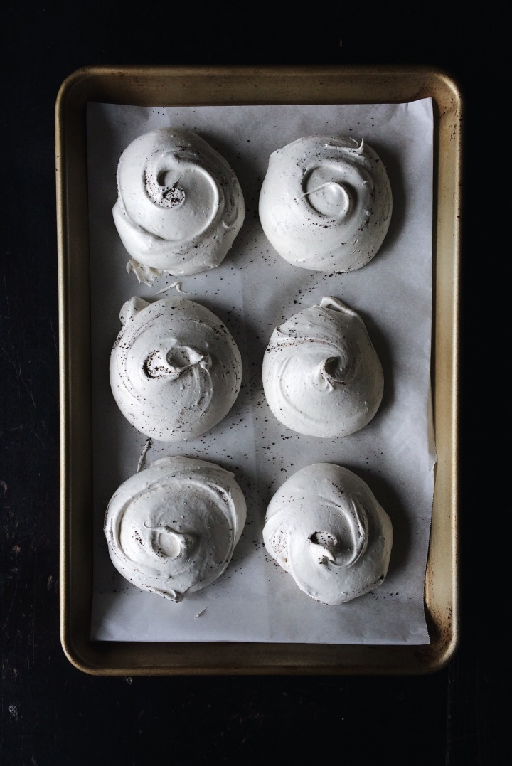 Chicory Coffee Meringues | for the love of the south