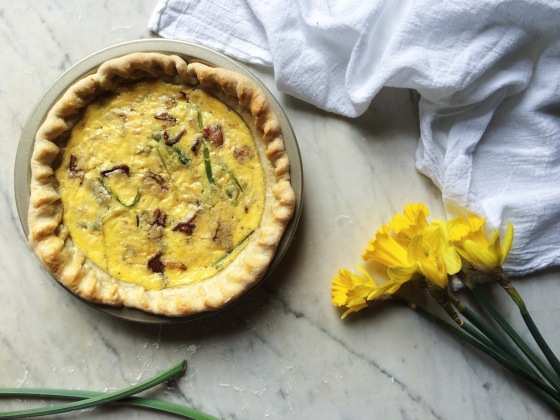 Spring Onion + Bacon Quiche | for the love of the south