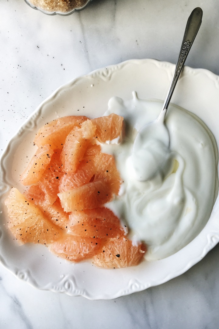 Black Pepper, Grapefruit with Local Honey & Yogurt | for the love of the south